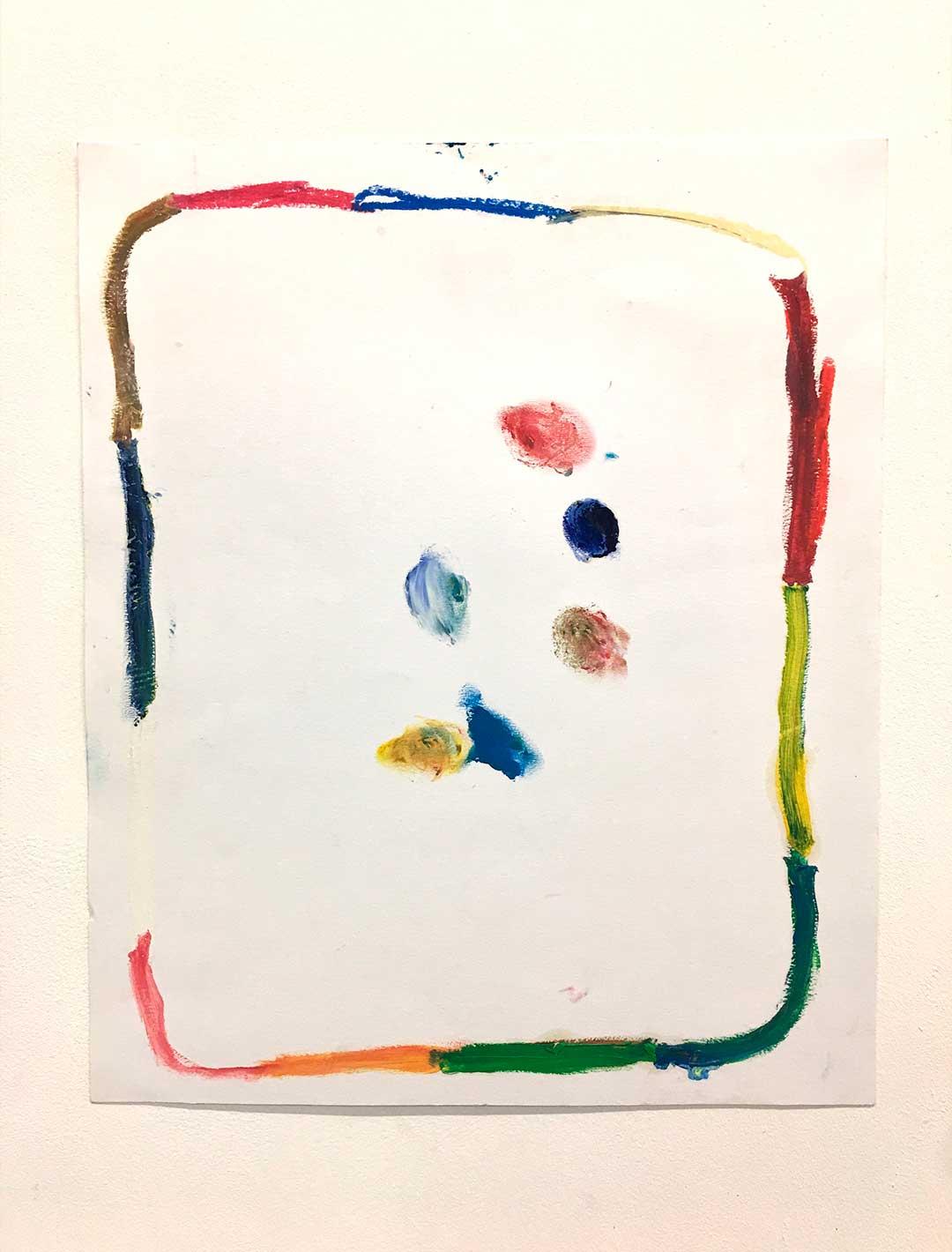 Savez-vous jongler les choux? - Pastels on paper - 39 x 31 cm