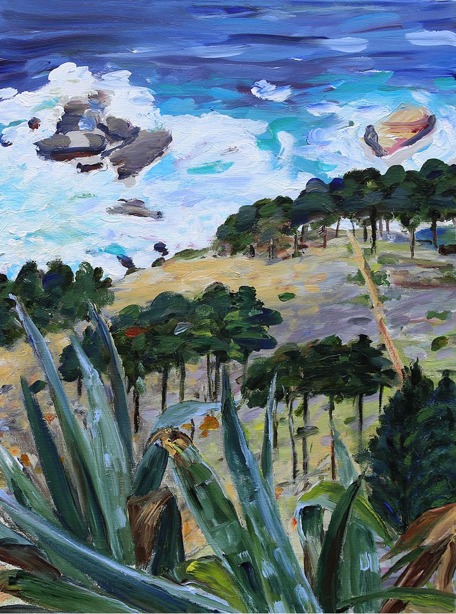 Mod havet, Mallorca I. Akryl på lærred. 80x60 cm.