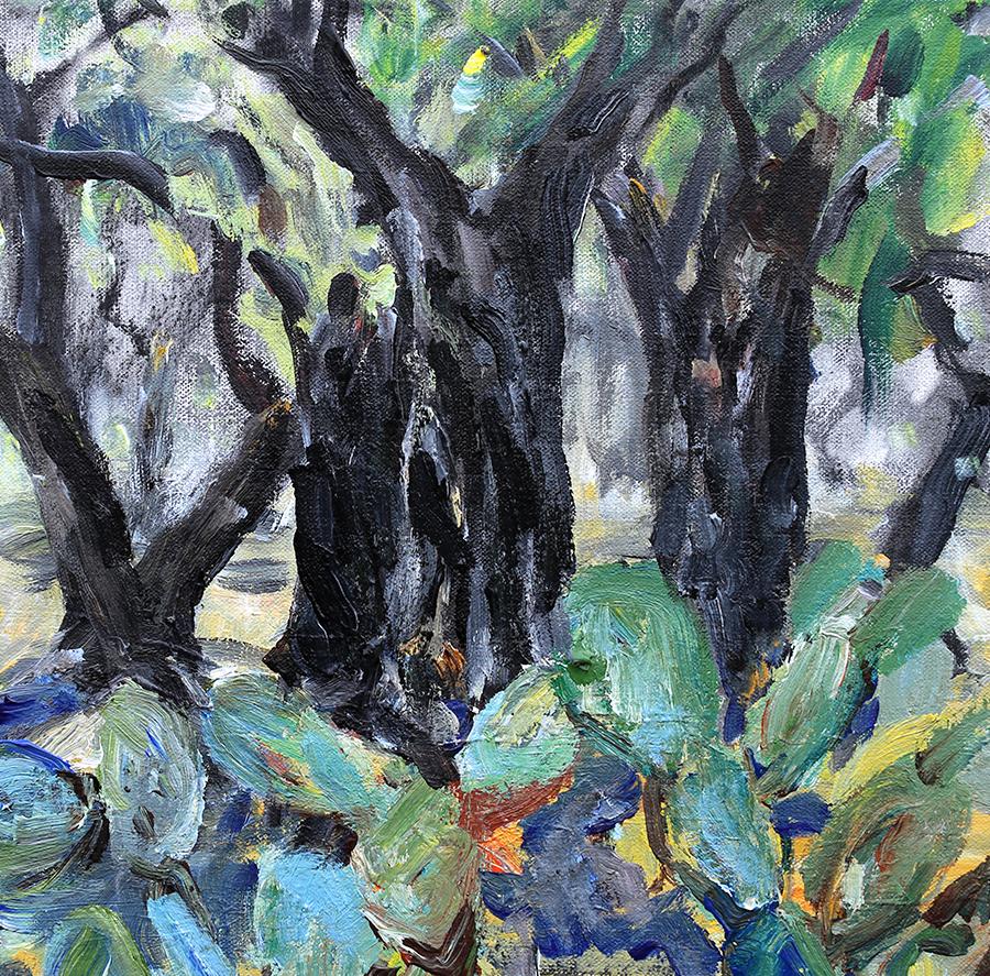 Olivenlund, Andalusien. Akryl på lærred. 30x30 cm.