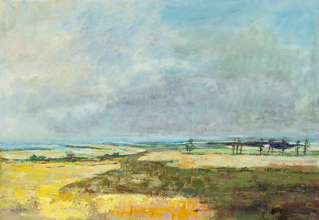 Henrik Scheel - Vedvarende stilhed 29,5x42 cm
