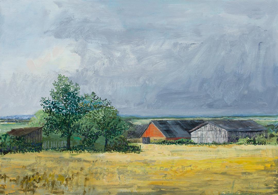 Henrik Scheel - Landskab 70x110 cm