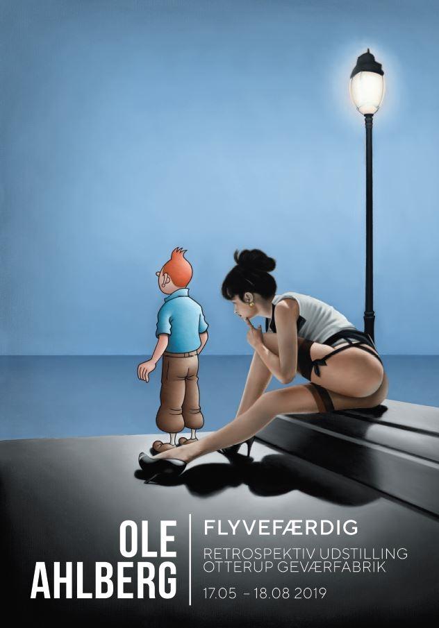 Ole Ahlberg Udstillingsplakat